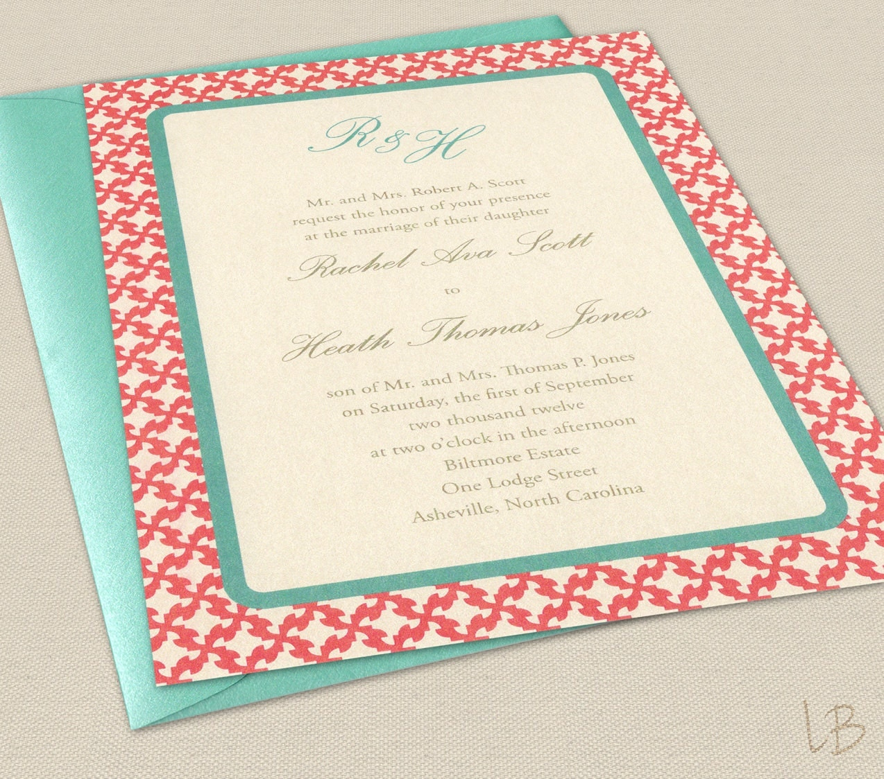 Coral Wedding Invitations: Chandeliers & Pendant Lights