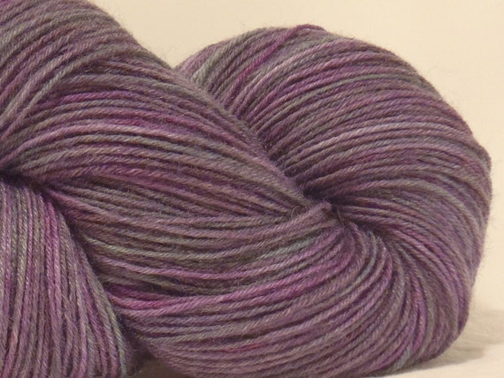 Grapes of Wrath - Hand Dyed Fingering Weight Sock Yarn - Wool Nylon Blend