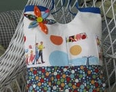 Dick and Jane Lots -O-Dots Tote Bag beach diaper fun carryall summer primary colors blue