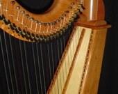 34 String Regency Floor Harp Cherry Celtic Lever Harp - Full Set of Levers