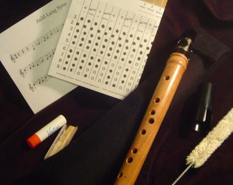 Cherry Pocket Clarinet, Chalumeau, Mini Saxophone, Mini Clarinet, Renaissance, Heritage Music Key of D