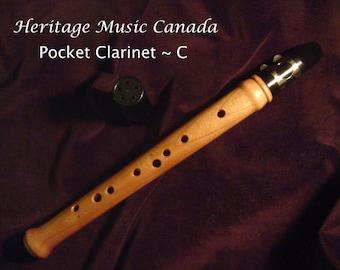 Cherry Pocket Clarinet, Chalumeau, Mini Saxophone, Keyless Mini Clarinet, Renaissance, Heritage Music