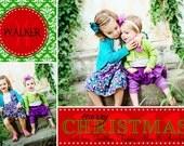 Monogram - Custom Photo Christmas Card