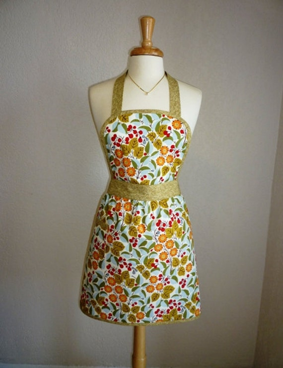 Apron -   Vintage Apron Style in Modern Floral - Ready to Ship