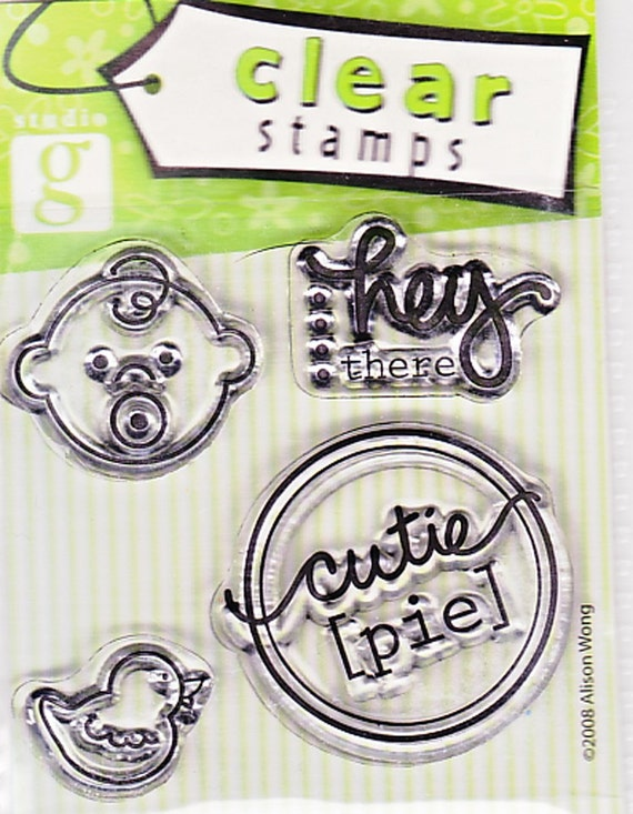 CLEARANCE Studio G Baby Cutie Pie Clear Stamps 4 pieces