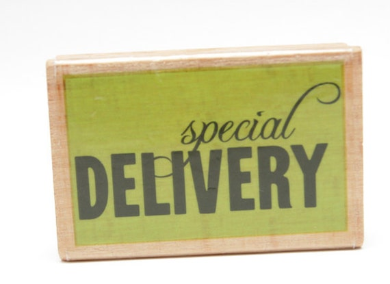 Studio G Special Delivery Mounted Rubber Stamp