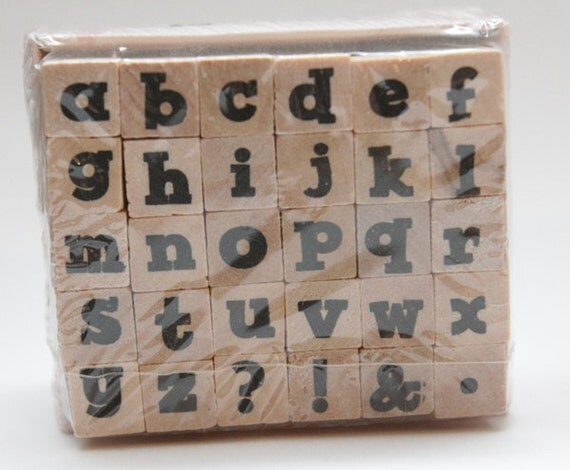 ABCs Lower Case Chunky Wood Mounted Stamp Studio G