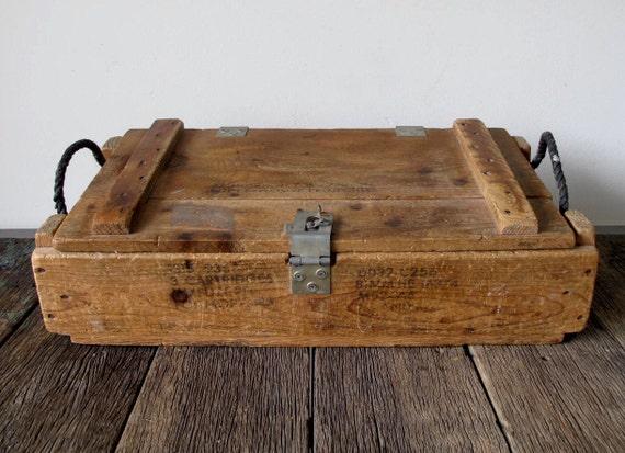 Vintage Wood Military Ammo Crate