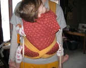 RESERVED for povertyjane - Orange and Red Mei Tai carrier