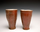 Pair of Red Carved Tumblers (Reduced Price)