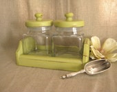 Upcycled Canister Set in New Avocado