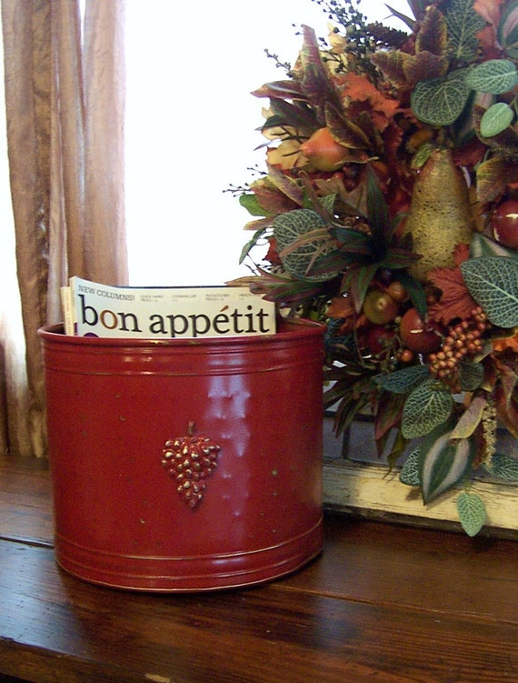HOLD for DJ Shabby Planter in French Country Red