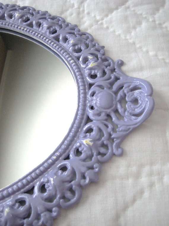 Vintage Mirror / Vanity Tray in French Lilac