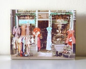 Colorful Vintage Shop Wrapped Canvas Print / Photography Wall Decor / Romantic Gift / Ready to Hang
