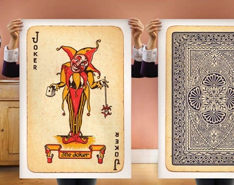 Joker Playing Cards 2 BIG Posters: 20x30inch (50x70 cm) Fit into IKEA frame Gift For Men / Guys
