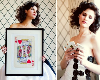 SALE: King and Queen Vintage Playing Cards Posters, Romantic Royal Wedding gift, Bedroom Wall Home Decor, 12x16.5'' Fit to IKEA frames