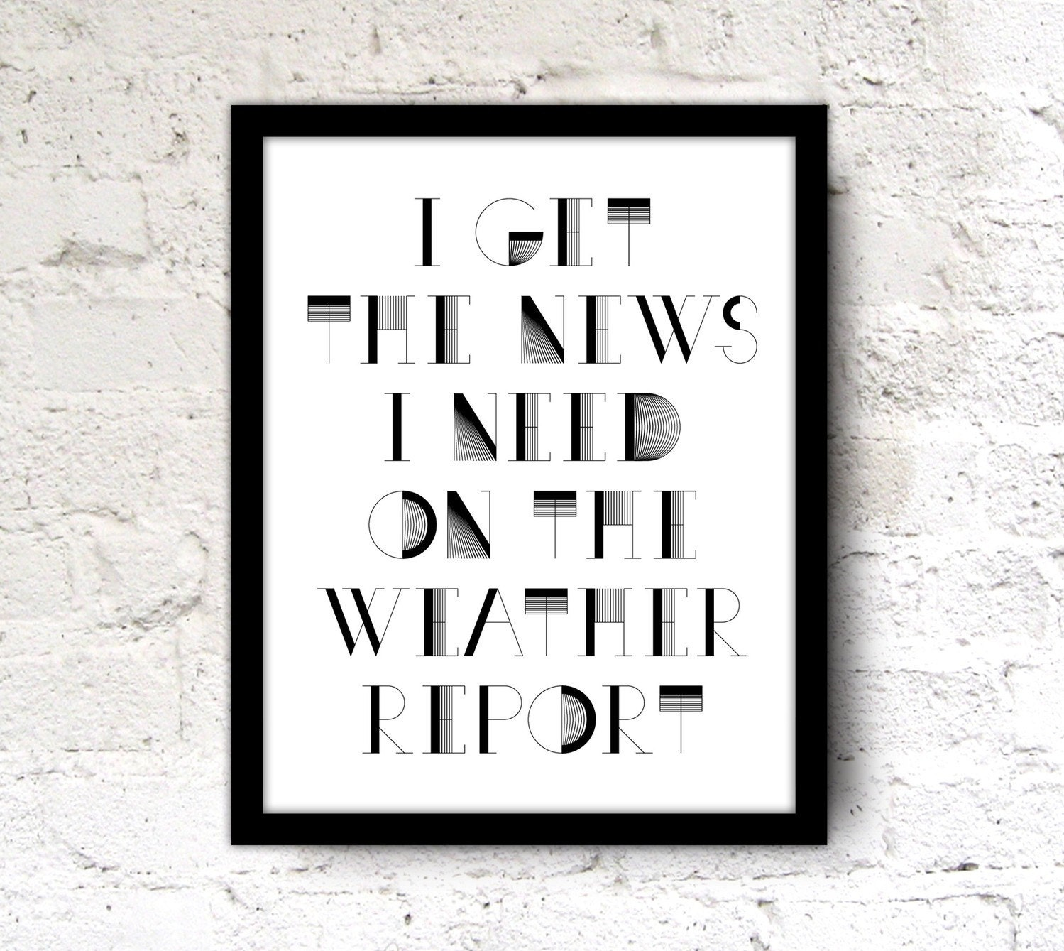 Black And White Quote Wall Decor : Song quote print wall office art poster black white