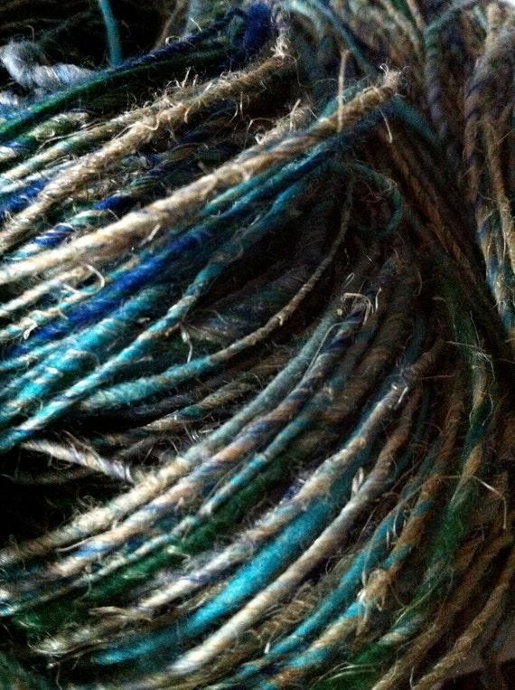 Deep Blue Sea Hemp Handspun Yarn