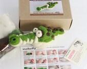 Needle felting Alligator kit