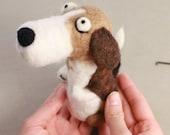 Needle felting Dog kit