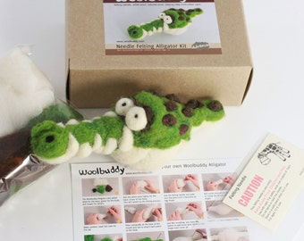 Needle felting Alligator kit