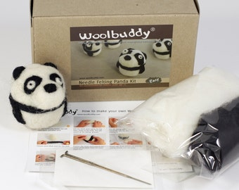 Needle felting panda kit