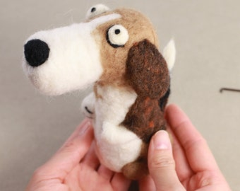 Needle felting Dog kit