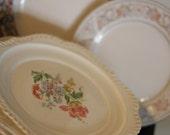 Lot of 8 Shabby Chic Vintage Dessert Plates