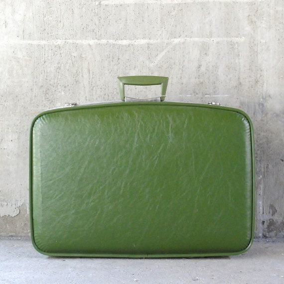Retro Green Suitcase
