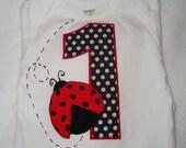 Lady Bug First Birthday Tshirt