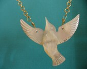 Mother of Pearl Bird Necklace to benefit French Bulldog Rescue