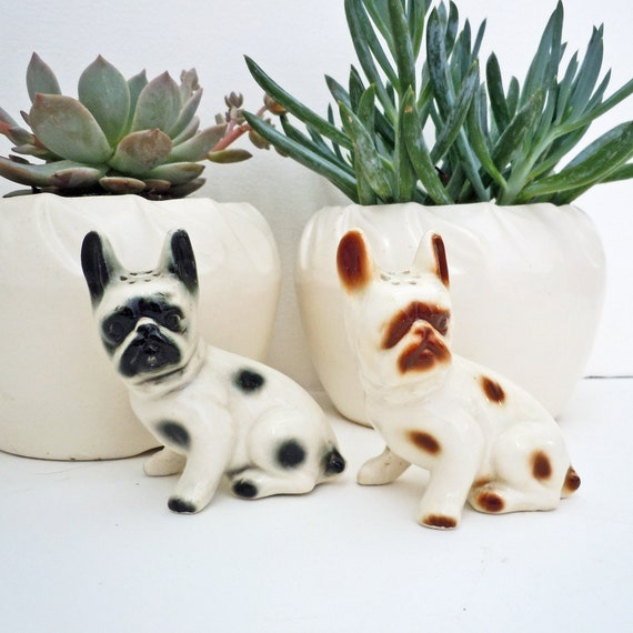 Vintage French Bulldog Salt and Pepper shakers to benefit French Bulldog Rescue