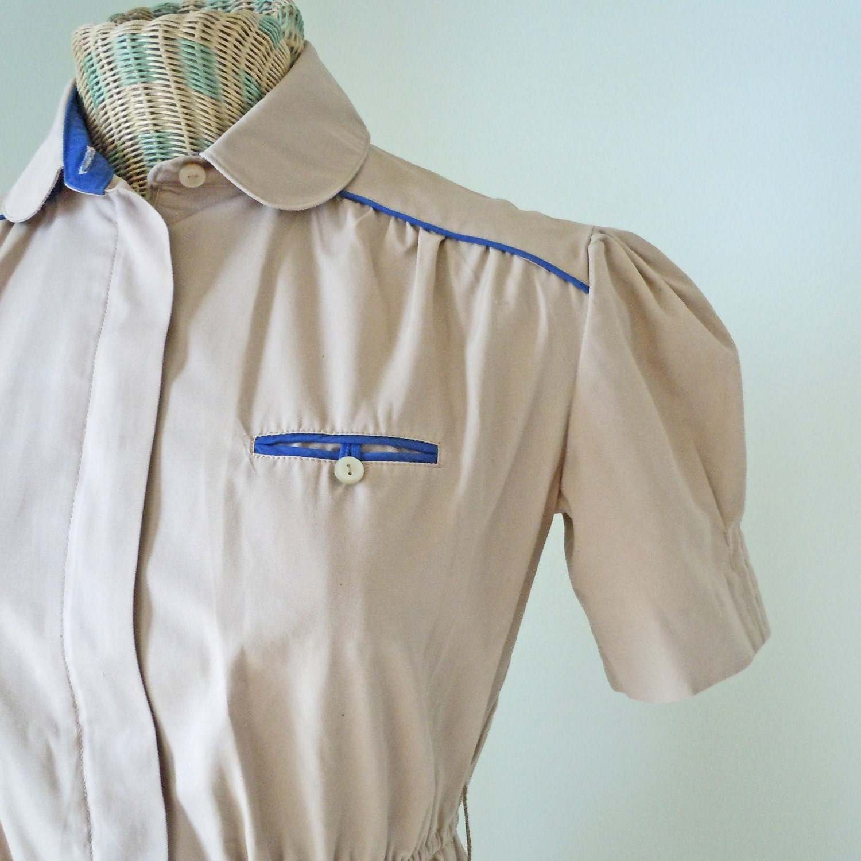 Vintage Diner Waitress Uniform Dress by localevintage on Etsy