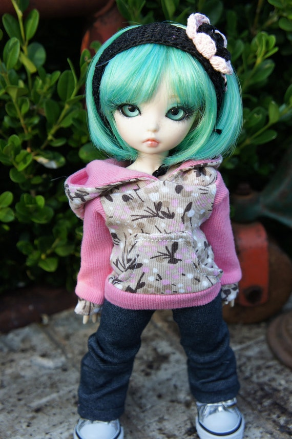 Floral & Pink Hoodie for Littlefee/YoSD