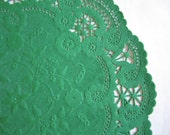 Vntage Green Hallmark French Lace Paper Doilies