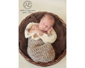 Download PDF crochet pattern s005 - Newborn Cocoon with buttons