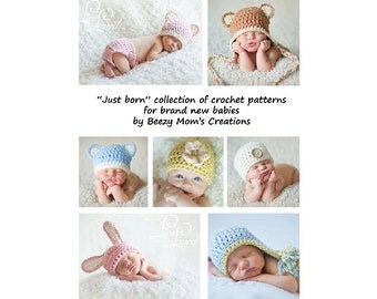 Download PDF crochet patterns - JUST BORN collection for brand new babies