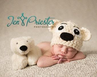 Download PDF crochet pattern 006 - Teddy-bear hat - Multiple sizes from newborn through age 4