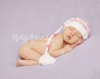 Download PDF knitting pattern k-08 - Newborn Long tail hat