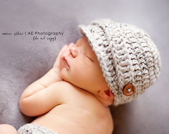Download PDF crochet pattern 034 - Visor hat - Multiple sizes from newborn through age 4
