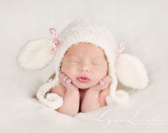 Download PDF crochet pattern 038 - Lil' Lamb bonnet