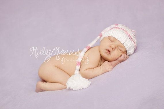 Download PDF knitting pattern k-08 - Newborn Long tail hat