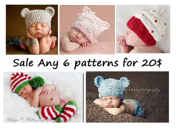 SALE ANY 6 PDF Patterns for 20.00