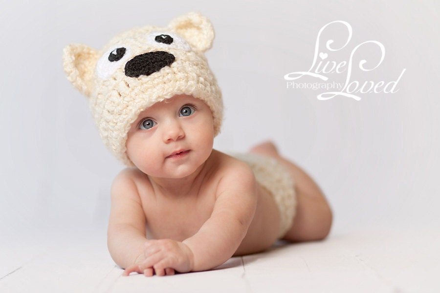 Crochet Baby Teddy Bear Hat Pattern : Download PDF crochet pattern Teddy-Bear hat by ...