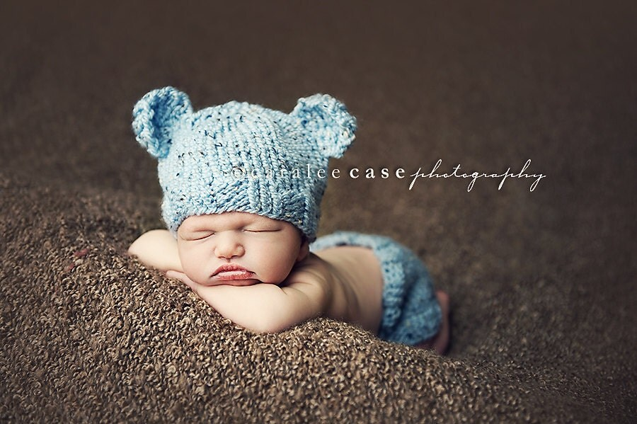 Download PDF knitting pattern k-03 Knit Newborn Baby-bear