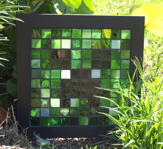Sale Mosaic Creeper Minecraft Stained Glass By Artfulsalvage