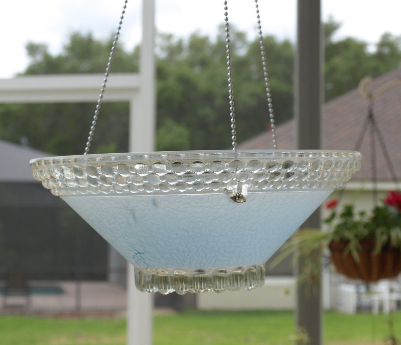 Bathroom Light Fixture Humming: Repurpose Light Fixture Bird Feeder Hanging By ARTfulSalvage