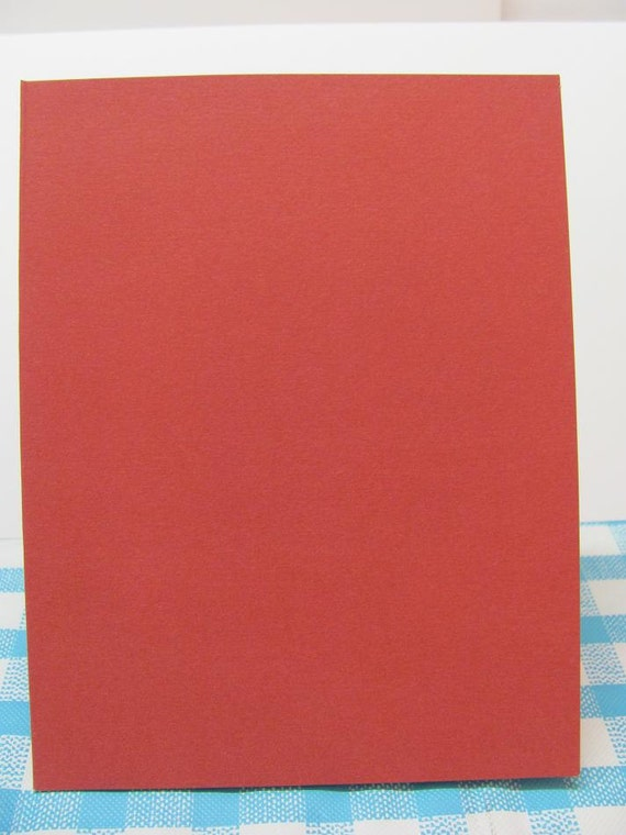 Red Blank Cards And Envelopes - 6 Sets