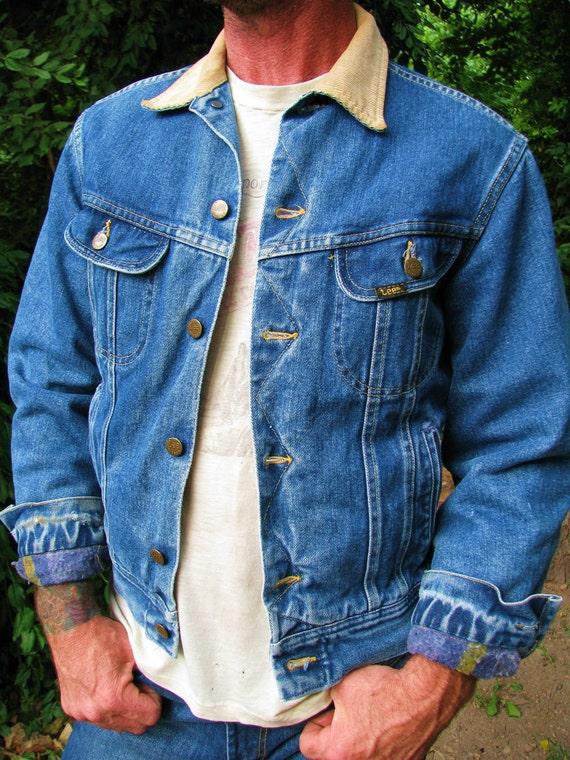 Vintage 1970s Denim LEE Storm Rider Lined Jacket COWBOY Western
