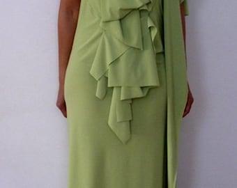 Moss Green Drape Dress